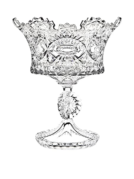 Christmas Tablescape Decor - Godinger Royal Crystal Pedestal Bowl