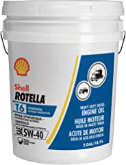 Shell Rotella T6 Full Synthetic 5W-40 Diesel Engine Oil (5-Gallon Pail)