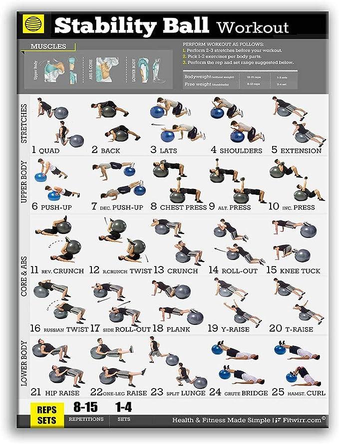 XUNXI Póster de Fitness, Culturismo, Gimnasio, Deporte, Fitness, Mancuernas, Pesas Rusas, Entrenamiento, Ejercicio, Tabla de Entrenamiento, Arte, ...