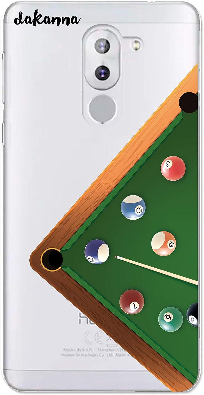 dakanna Funda Compatible con [Honor 6X] de Silicona Flexible, Dibujo Diseño [Mesa de Juego de Billar], Color [Fondo Transparente] Carcasa Case Cover de Gel TPU para Smartphone: Amazon.es: Electrónica