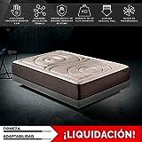 Komfortland Colchón 135x180 viscoelástico Memory Platinum de altura 27 cm, 9 cm de ViscoProgression Grafeno