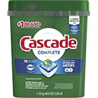 Cascade Complete ActionPacs Dishwasher Detergent, Fresh Scent (.01 Pack, 2.56 Pound)