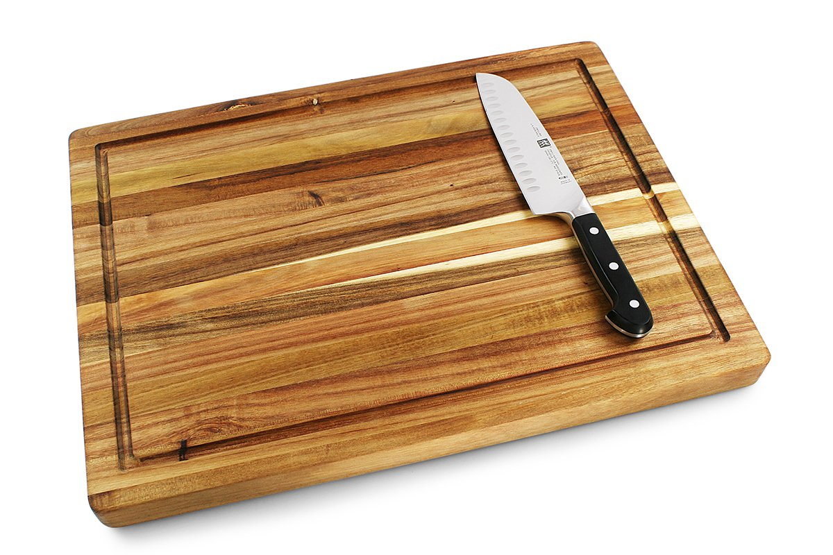 Villa Acacia Large Cutting Board with Juice Groove 20 x 15 x 1.25 Inch by Villa Acacia