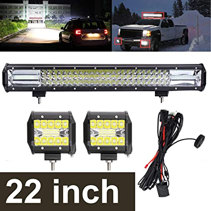 amazon com 22 inch led light bar 324w 4\u201d led pods lights 120w Off-Road Light Switches 22 inch led light bar 324w 4\u201d led pods lights 120w wiring harness