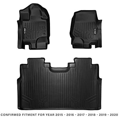 MAX LINER A0167/B0167 for 2015-2020 Ford F-150 SuperCrew Cab with 1st Row Bucket Seats, Black: Automotive