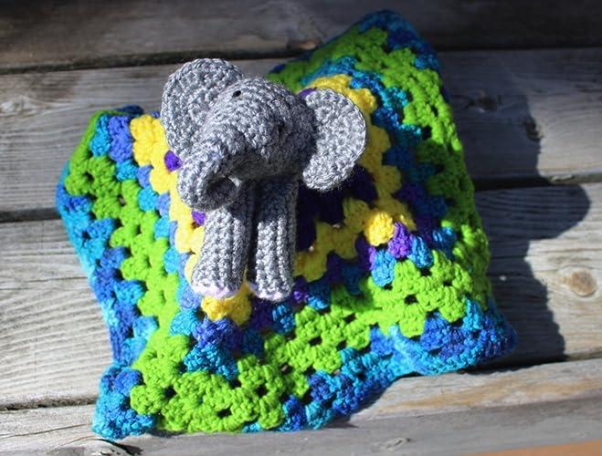 Amazon com: Baby Elephant Lovey Blankey, Elepahant Comfort