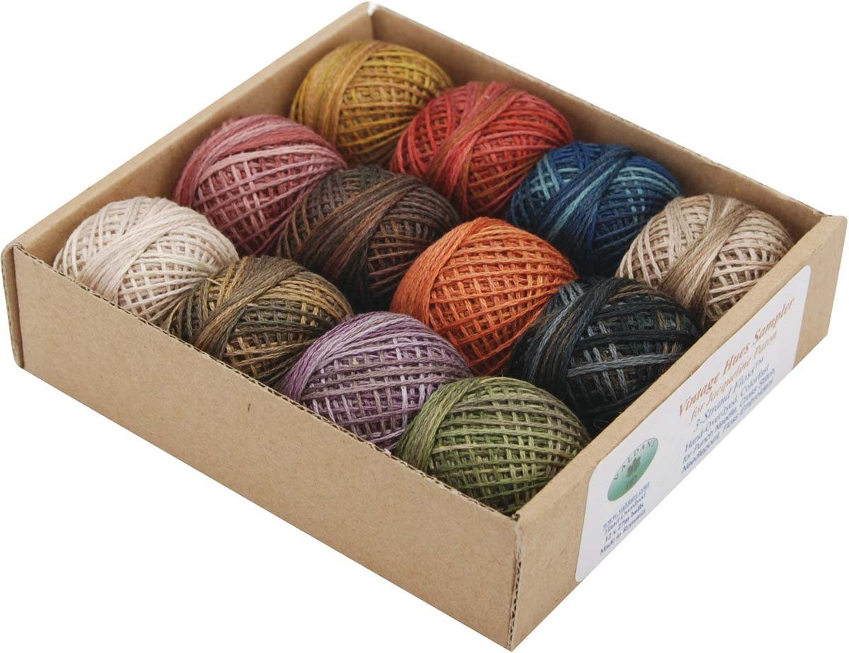 Valdani Inc. J.Patton Hand-Overdyed Perle Cotton Thread Balls Size 12 Designer Set, 12/Pkg: Vintage