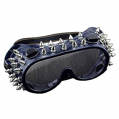 Amazon.com: Steampunk anteojos Studded anteojos Biker Rock ...