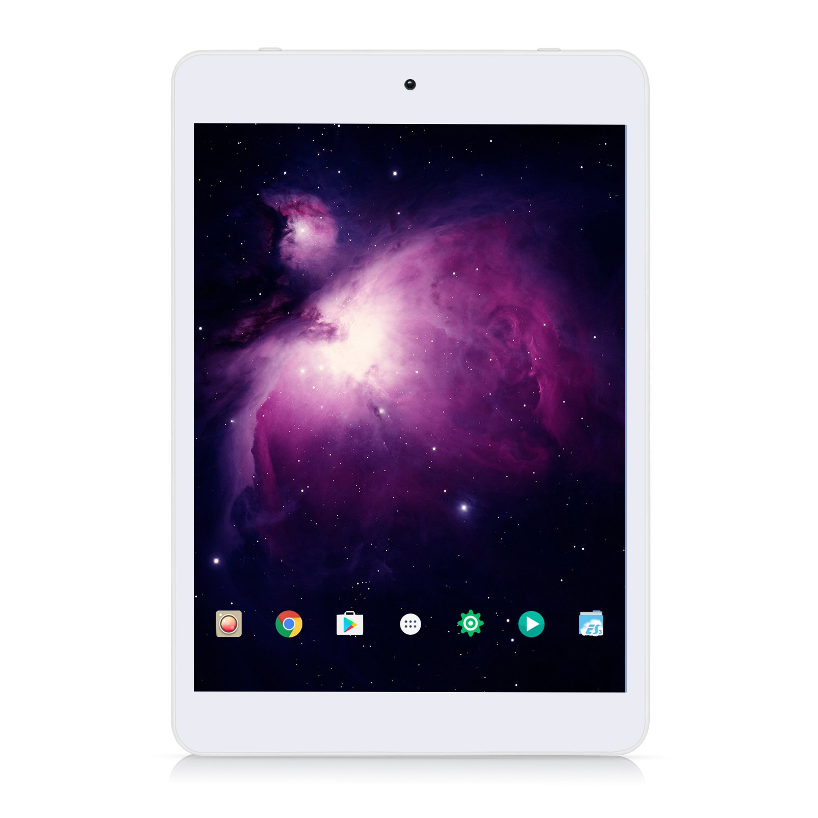 """7.85"""" Tablet Android Google 7.0, 1GB/16GB, 1.3gHz Quad Core,768x1024 IPS HD Display,Dual Camera, Microsoft Mini HDMI Bluetooth G-Sensor Supported,GMS Certified,iRULU eXpro 5 S Tablet (X5 S)-White by iRULU (Image #1)"""