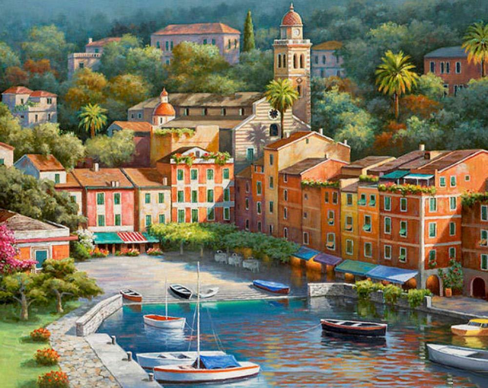 Impresionante Ciudad Paisaje DIY Pintura Digital Traje Digital ...