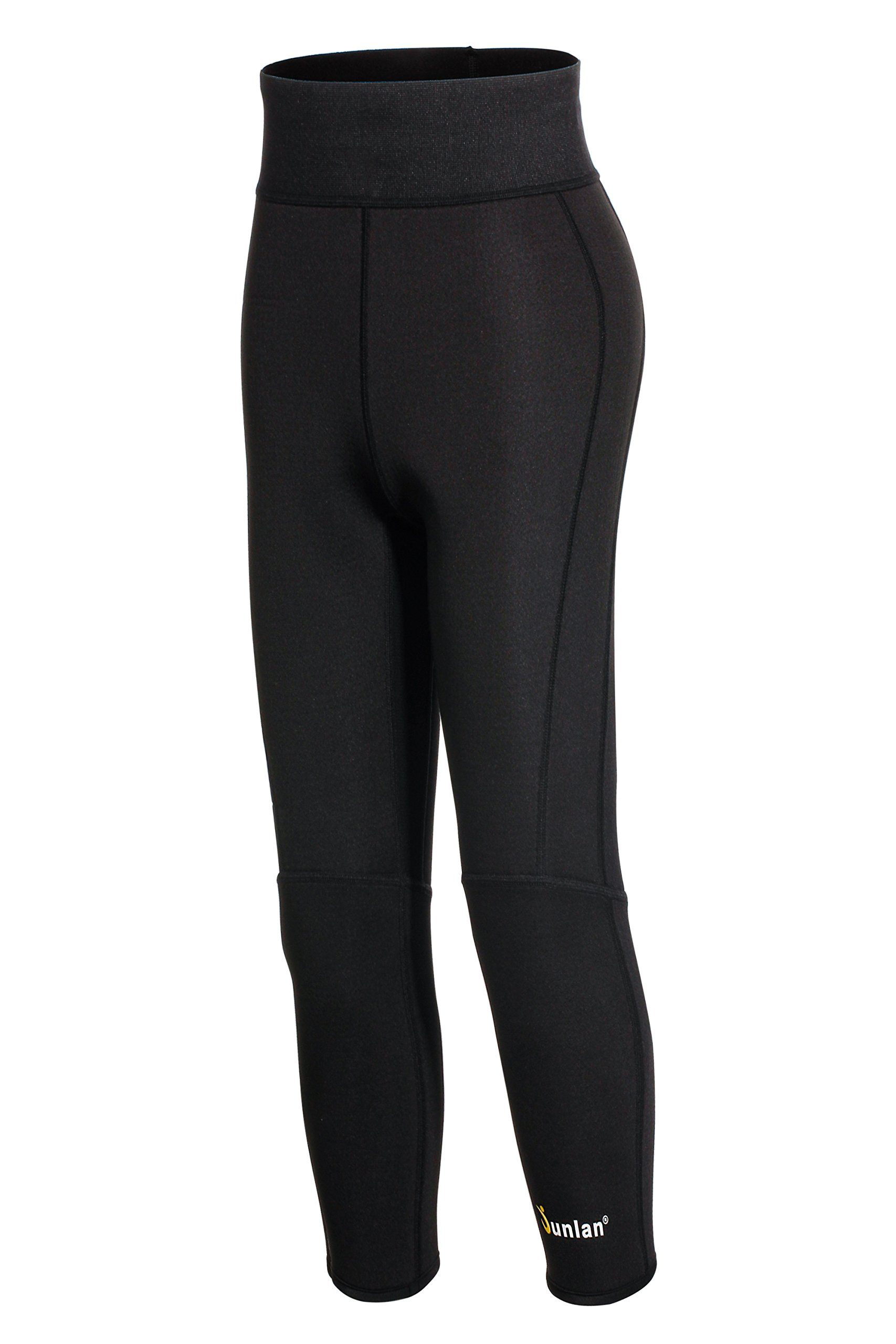 3f0d501dc1 Junlan Women Neoprene Workout Pants Body Shaper Sweat Sauna Suit for Weight  Loss Exercise Leggings Hot Slimming Yoga Capris   Sauna Suits   Sports ...