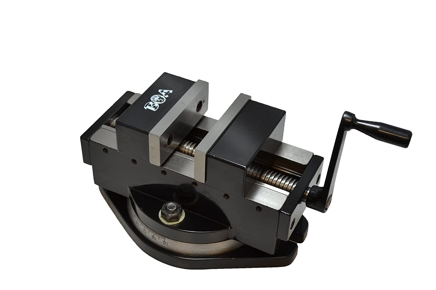Image of Boa 110081 Precision Self Centering Vise with Swivel Base, 4 x 4 Bench Vises