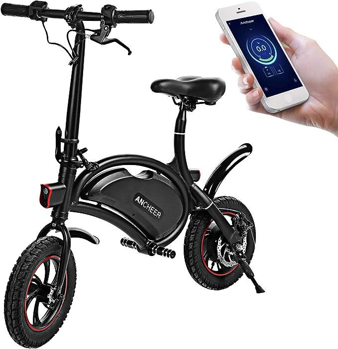 ANCHEER Folding Waterproof Electric Bicycle-Powerful Motor