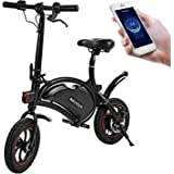 ANCHEER Folding Electric Bicycle E-Bike Scooter 350W Powerful Motor Waterproof Ebike with 15 Mile Range, APP Speed…