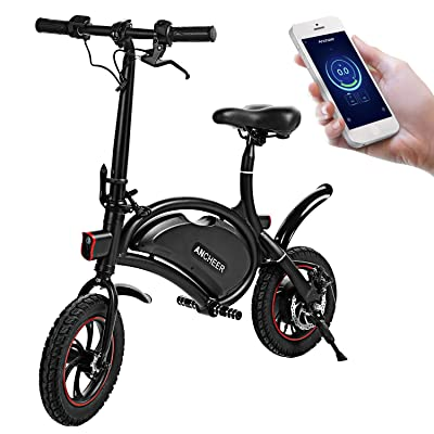 ANCHEER Folding Electric Bicycle E-Bike Scooter 350W Powerful Motor Waterproof Ebike