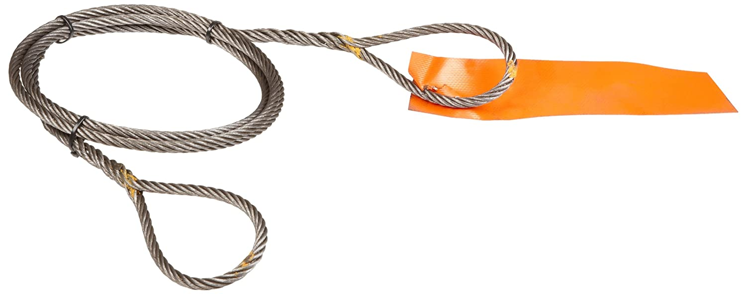 1//2 Diameter Eye-and-Eye 6 x 37 Fiber Core 4000 lbs Vertical Load Capacity Mazzella Hand Taper and Concealed Wire Rope Sling 8 Eyes 10 Length