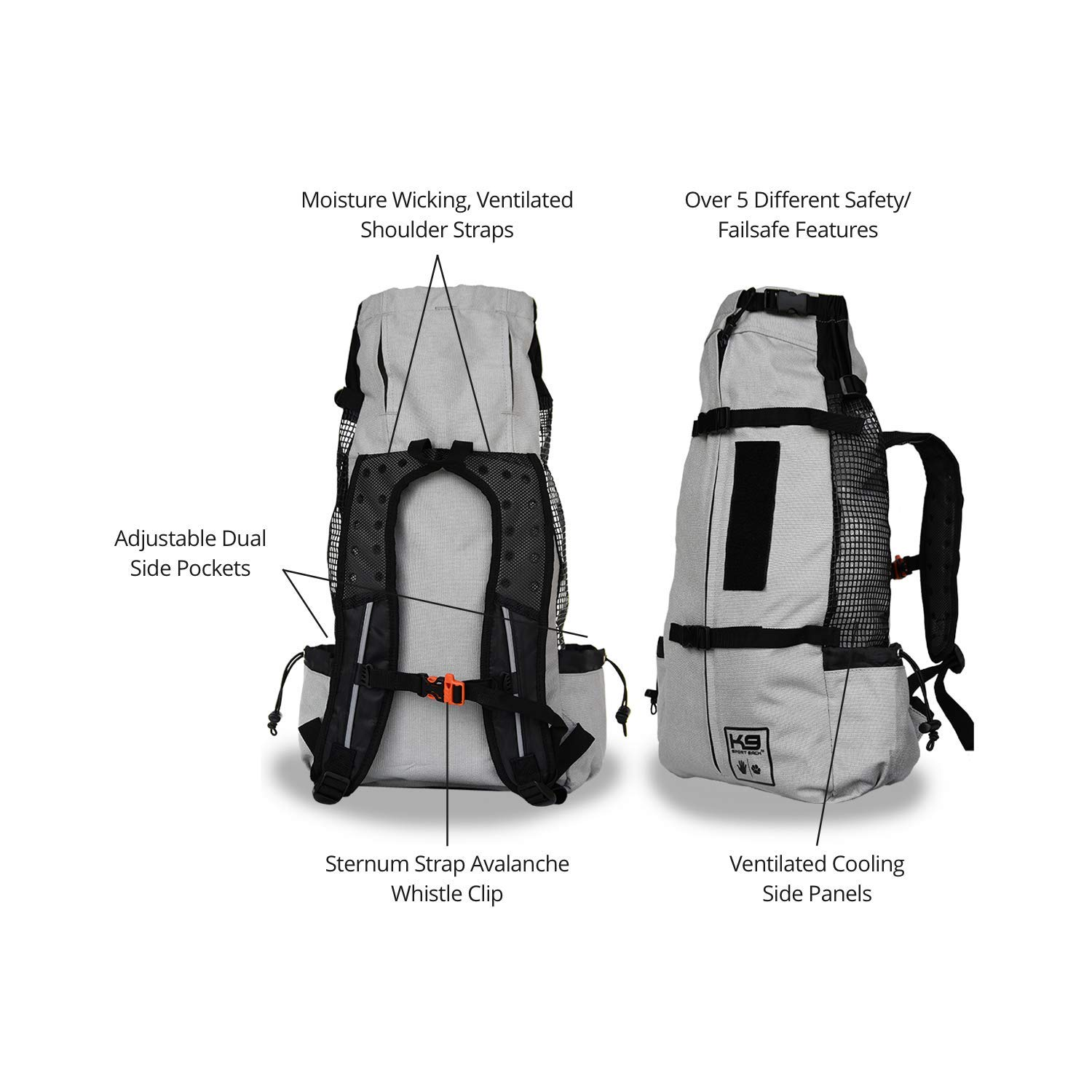 Gut bekannt Amazon.com : K9 Sport Sack | Dog Carrier Backpack for Small and IA25