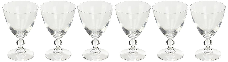 H& H Splendor Juego Copas para Agua, Vidrio, Transparente, 25 Cl, 6 Piezas 2028425