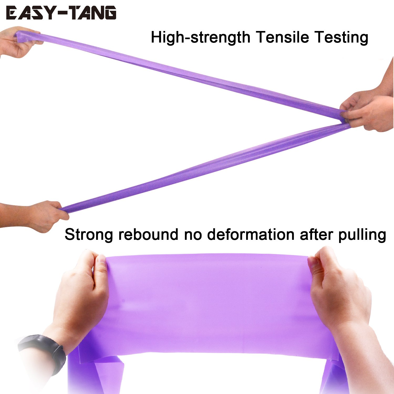 Yoga Stretch Bands Home Gym Fitness Equipment for Physical Therapy Strength Training Workout Long Exercise Resistance Band Stretch Pilates Yoga 2 Packs Set