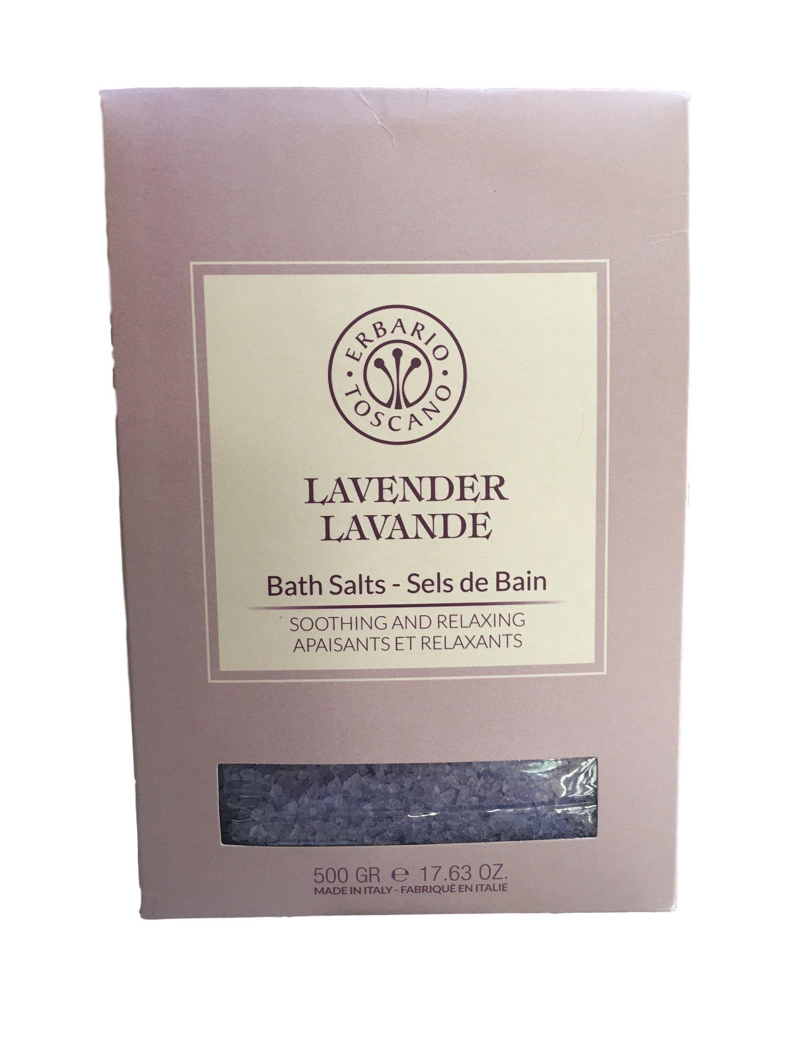 Erbario Toscano Lavender Lavande Bath Salts Made in Italy