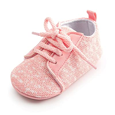 Antheron Baby Boys Girls Anti-Slip Sole Sneakers Breathable Toddler First Walkers Newborn Crib Shoes