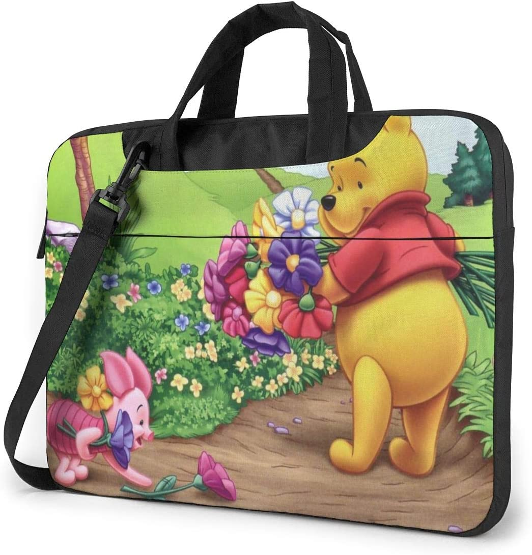 Winnie Pooh Laptop Bag Laptop Sleeve Tablet Briefcase Ultraportable Oxford Cloth Protective Handbag -for MacBook Pro/MacBook Air/Notebook Computer 13 inch