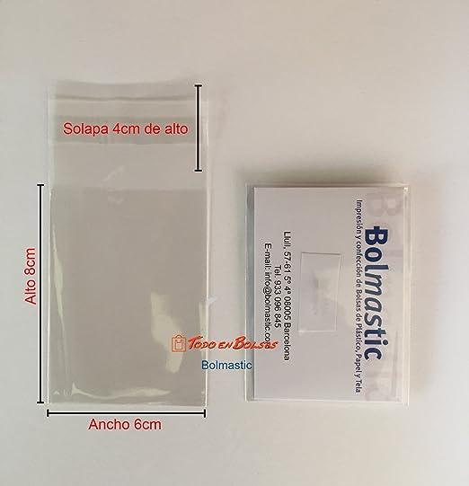 Bolsa de Polipropileno con Solapa Adhesiva de 6 x 8 cm (100 Unidades)