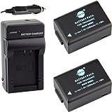 DSTE® アクセサリーキット Panasonic DMW-BMB9 BP-DC9 互換 カメラ バッテリー 2個+充電キット対応機種 Lumix DMC-FZ70 72 100 150 Leica V-LUX2 V-LUX3