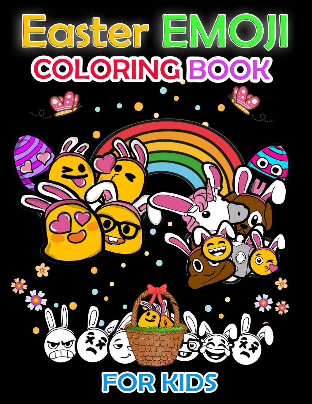 - Easter Emoji Coloring Book For Kids: Easter Coloring Pages
