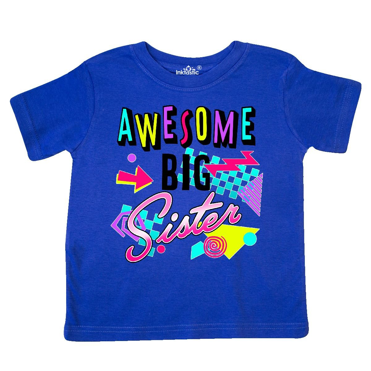 80s Retro Style Toddler T-Shirt inktastic Awesome Big Sister