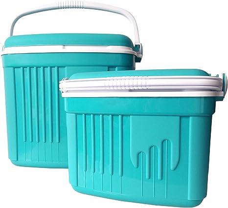 Nevera portátil de 32 L con caja térmica para camping, nevera y bolsa térmica de 8 l, color turquesa