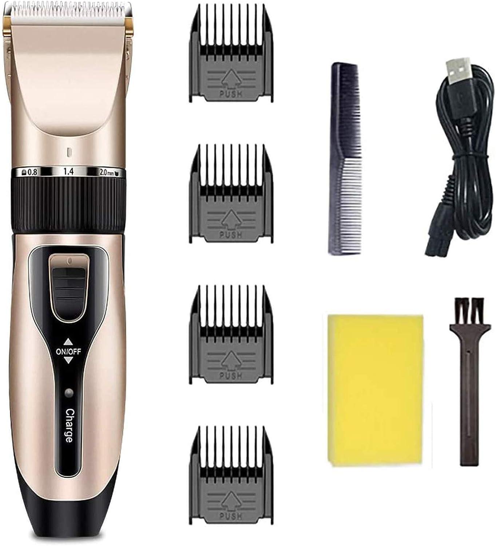 Cortapelos para hombre, cortauñas de pelo sin hilos para niños, afeitadora profesional con recargable, kit de aseo con 5 engranajes, máquina de corte de pelo eléctrica con 4 peines