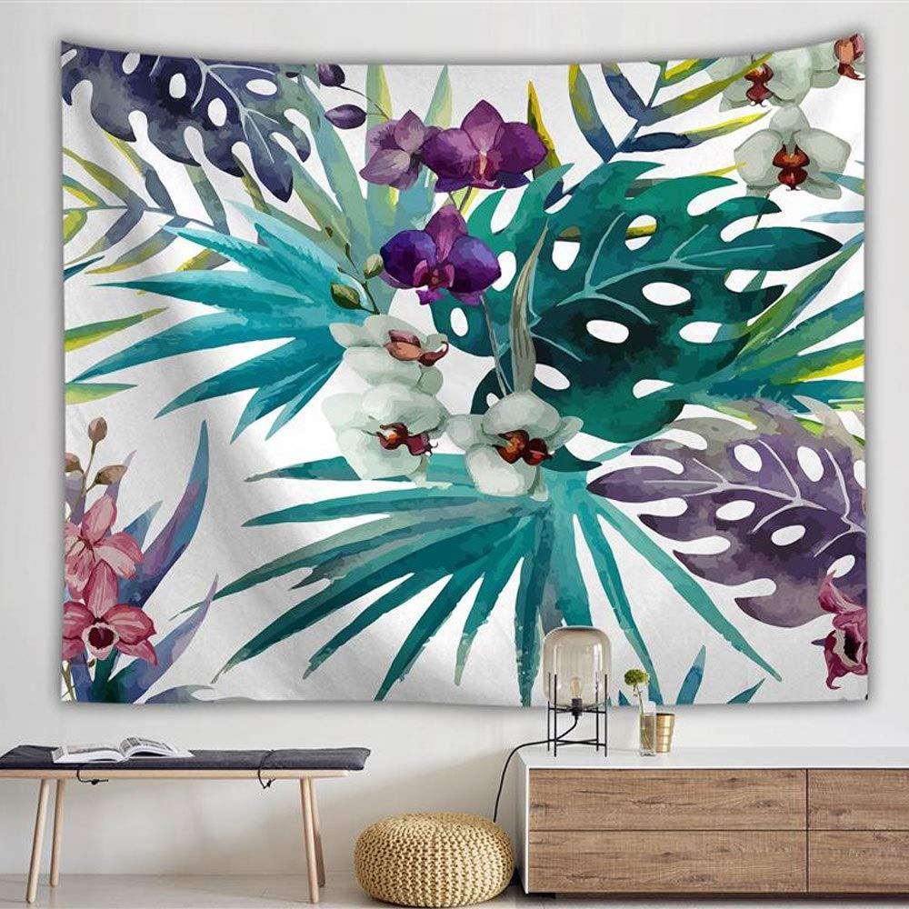 YDXYZ スケッチレッドアートマンダラタペストリー熱帯雨林葉柄壁掛けタペストリーベッドカバービーチタオルヨガマット毛布 (Color : D100X150)   B07SYHJQSB