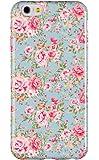 "iPhone 6 Plus + Case, DandyCase PERFECT PATTERN *No Chip/No Peel* Flexible Slim TPU Case Cover for Apple iPhone 6 Plus (5.5"" screen) - LIFETIME WARRANTY [Vintage Mint Green Floral]"