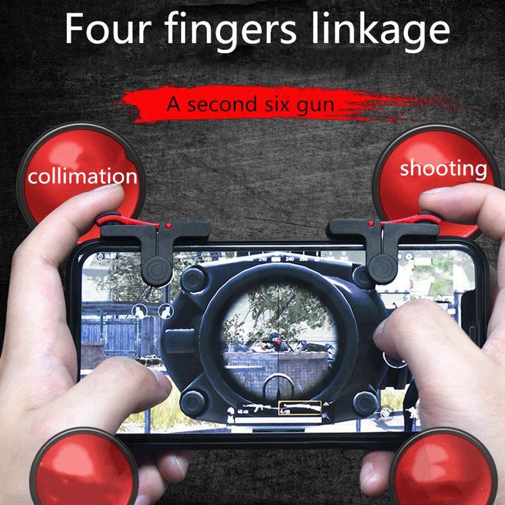 Tensay Controlador de juegos m/óvil Gamepad Joystick Controlador Manija Manija Empu/ñadura Sensible Shooter and Buttons f/ür den L1R1-Shooter-Controller Versi/ón actualizada Gamepad Shoot