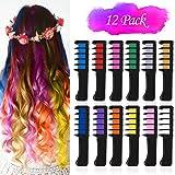 VSADEY 12 Color Hair Chalk for Girls