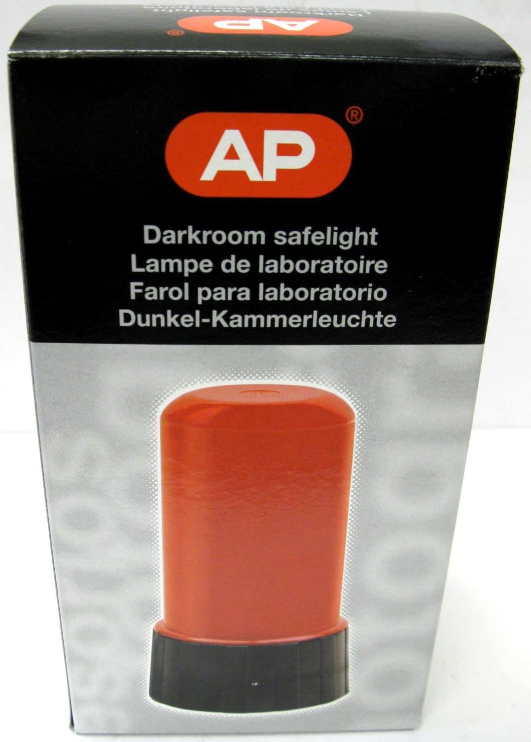 AP RED Darkroom Safelight with 15 Watt Bulb Approx 3'' x 5'' by AP Plastics