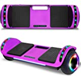 """cho New Hoverboard Electric Smart Self Balancing Scooter with Built-in Wireless Speaker 6.5"""" LED Wheels and Side Lights…"""