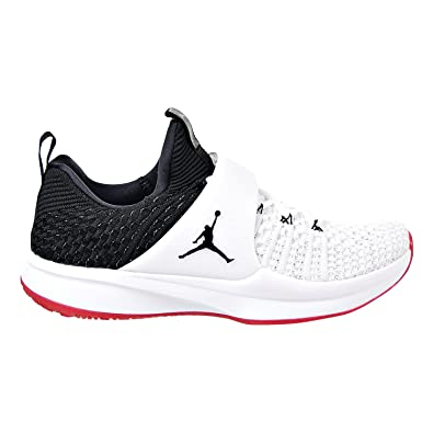 NIKE Jordan Trainer 2 Flyknit Men's Training Shoes WhiteBlack Black Gym Red 921210 101 (11 D(M) US)
