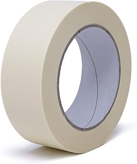 1 Rolle - 25 mm breit Krepp-Klebeband in versch L/änge: 50 m f/ür feine /& saubere Farbkanten Breiten Abdeck-Klebeband in Profi-Qualit/ät gws Maler-Kreppband