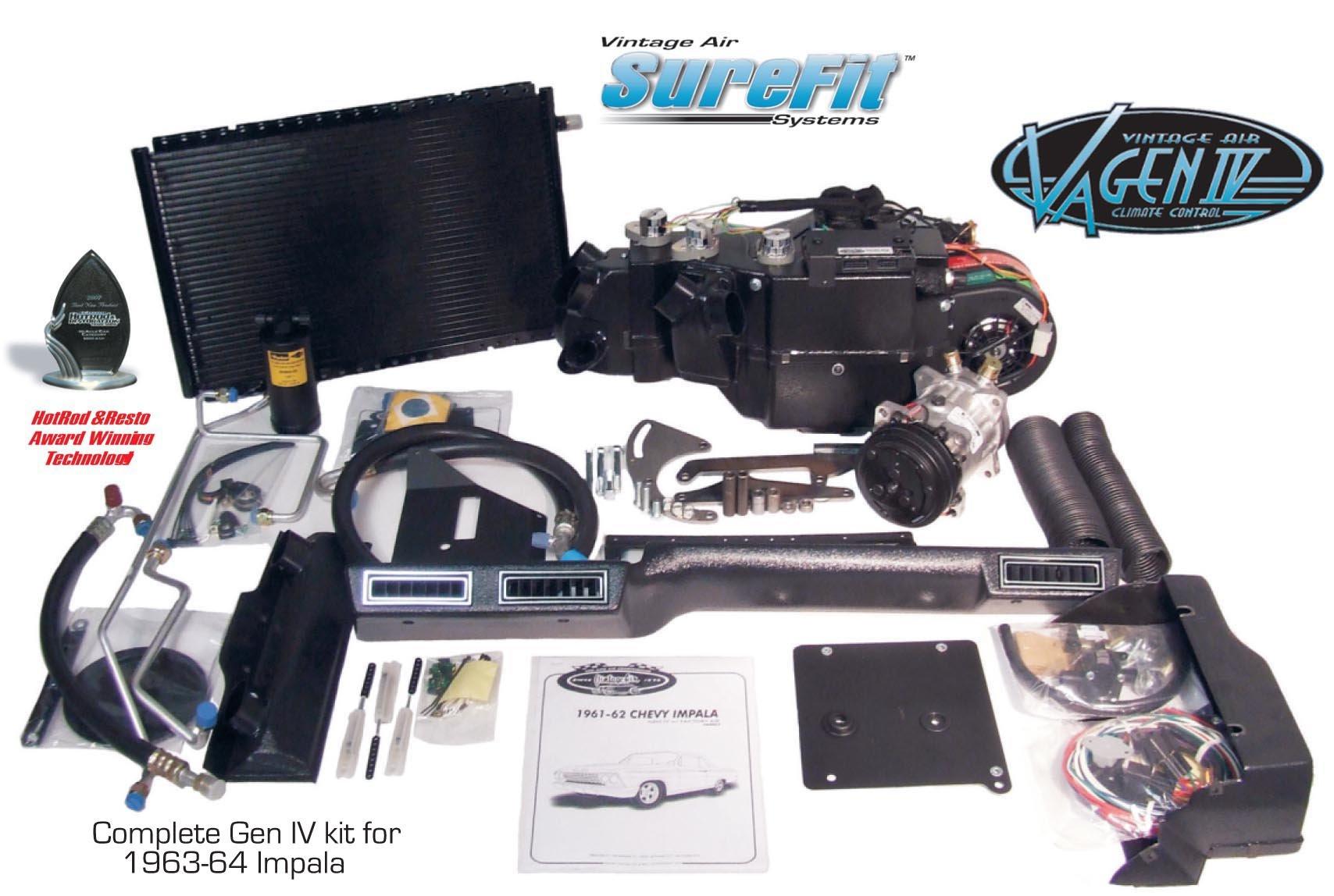 Vintage Air Gen IV SureFit System Kit 1964 Chevy Impala Without Factory AC Complete Kit
