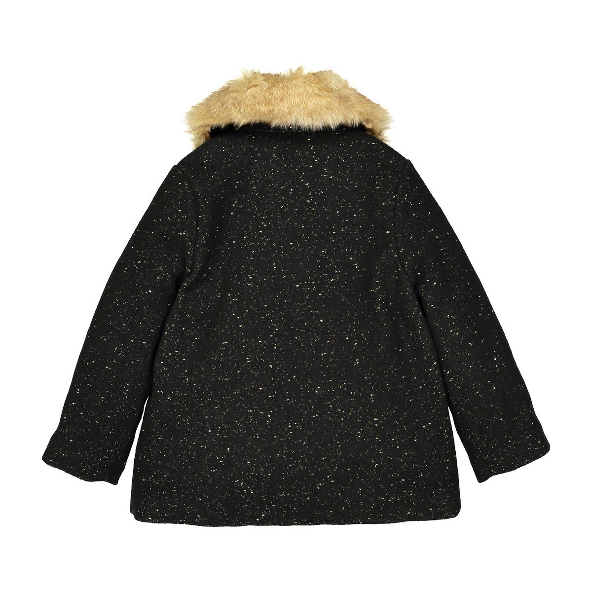 3-12 Years La Redoute Collections Big Girls Mid-Length Coat with Removable Collar