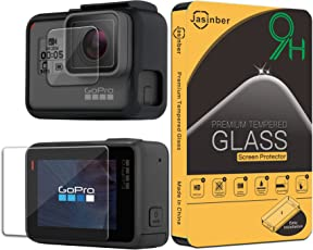 Jasinber [2-Pack] Mica de Vidrio Cristal Templado para GoPro Hero 5/Hero 6 Black/Hero 2018