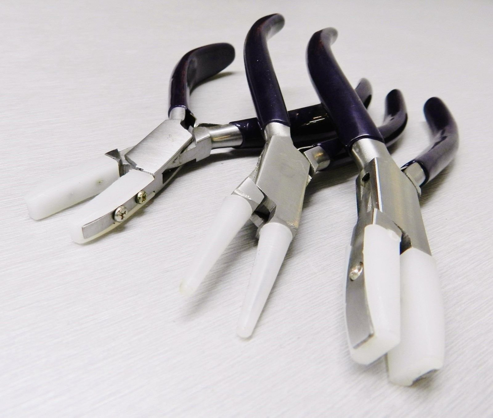 NYLON JAW PLIERS HD 3 SET JEWELRY CRAFT BEAD WIRE WORKING BENDING FORMING TOOLS (10E) by Novel