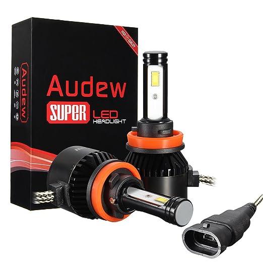 14 opinioni per Audew LED COB Auto 8000LM 6000K Faro Bulbi Faro Fendinebbia Luce Lampadine