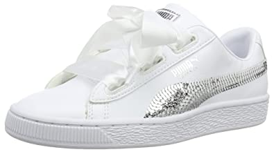 ba531b32330c0 Puma Basket Heart Bling Jr
