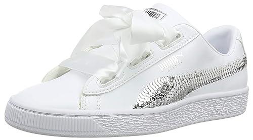 PUMA Basket Heart Patent Sneakers JR Girls Shoe Kids   eBay