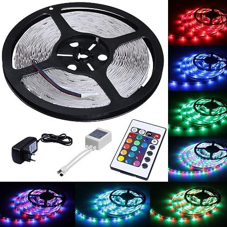 Jago 3528RGB Tiras de luces (300x LED, con 24 teclas de control remoto)