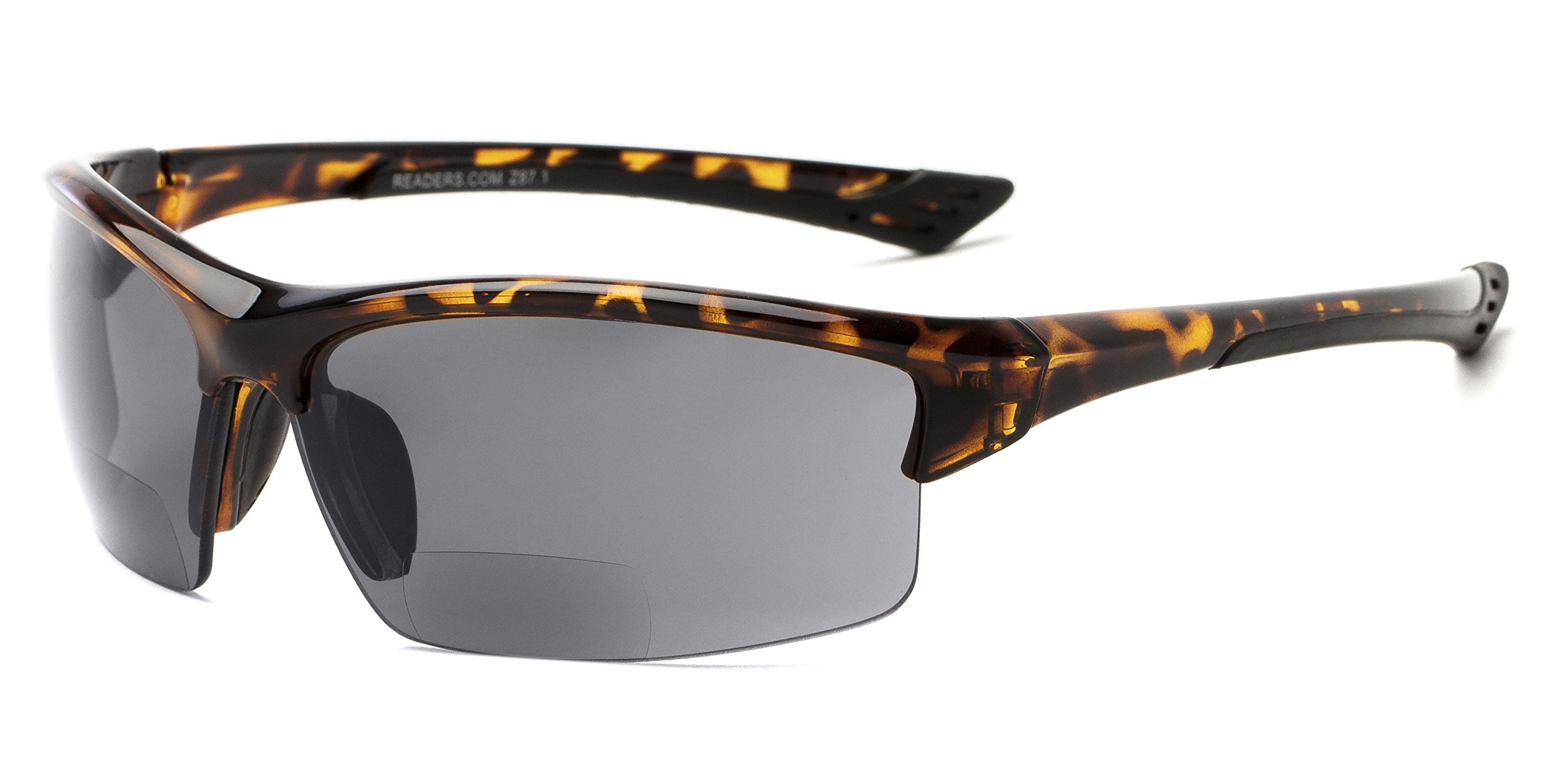 Readers.com | The Foster Bifocal Sun Reader +2.50 Tortoise with Smoke Reading Sunglasses