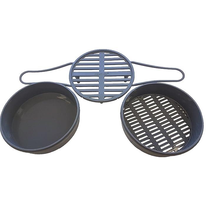 Instant Pot Electric Pressure Cooker Official Steamer Insert Set – Long Handled Trivet, Steamer Basket, Broiler Pan to fit all 8qt and 6qt models